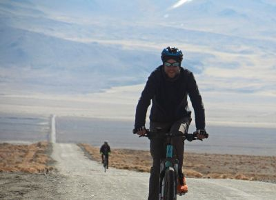 Heiko Conze Cycling on the Tajikistan to Kyrgyzstan   tour with redspokes